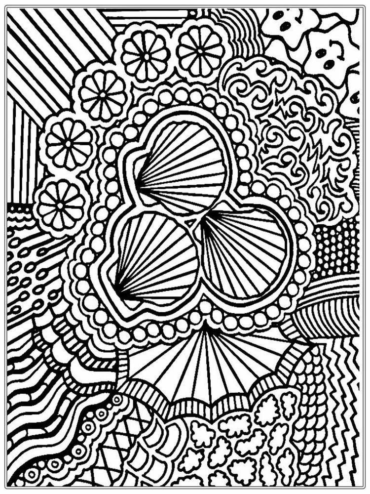 Advanced Coloring Pages Seashells