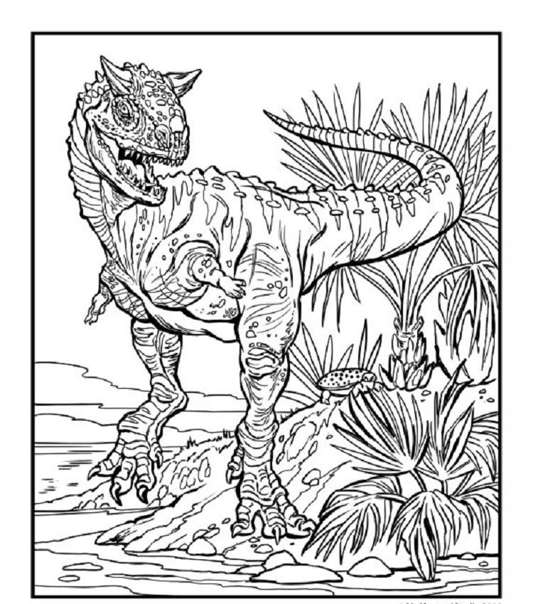 Advanced Dinosaur Coloring Pages