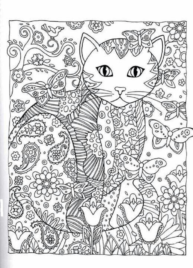 Advanced Kittens Coloring Pages