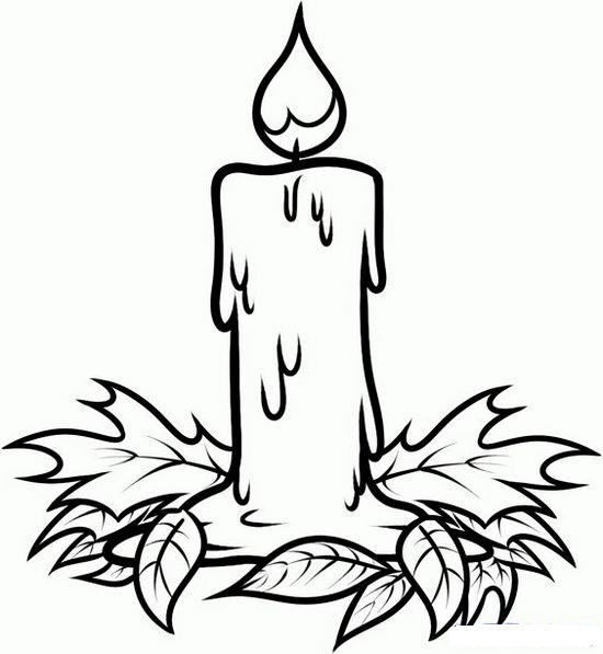 Advent Wreath Coloring Page To Print