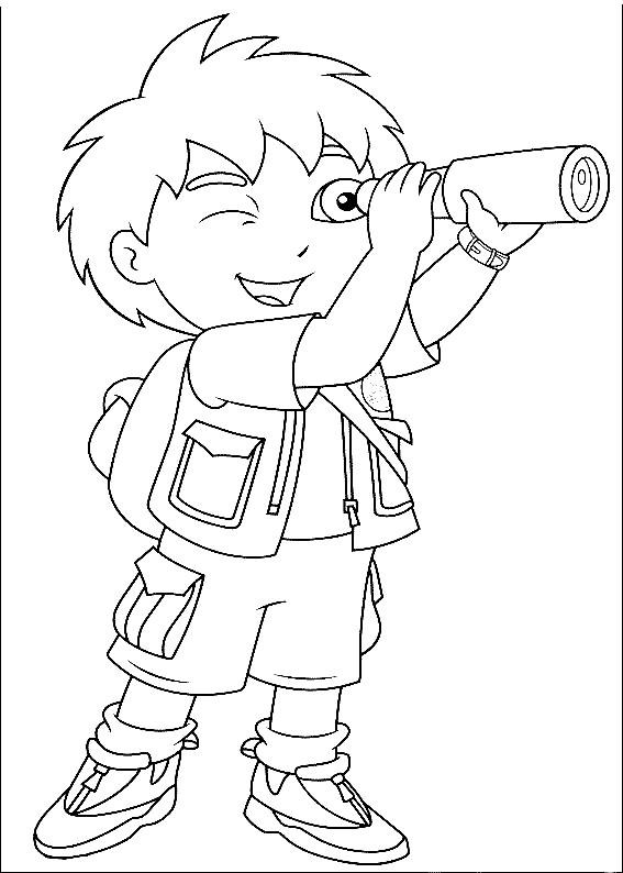 Adventure Diego Coloring Pages For Kids