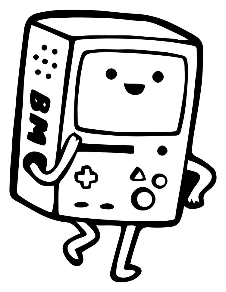 Adventure Time Coloring Pages Beemo