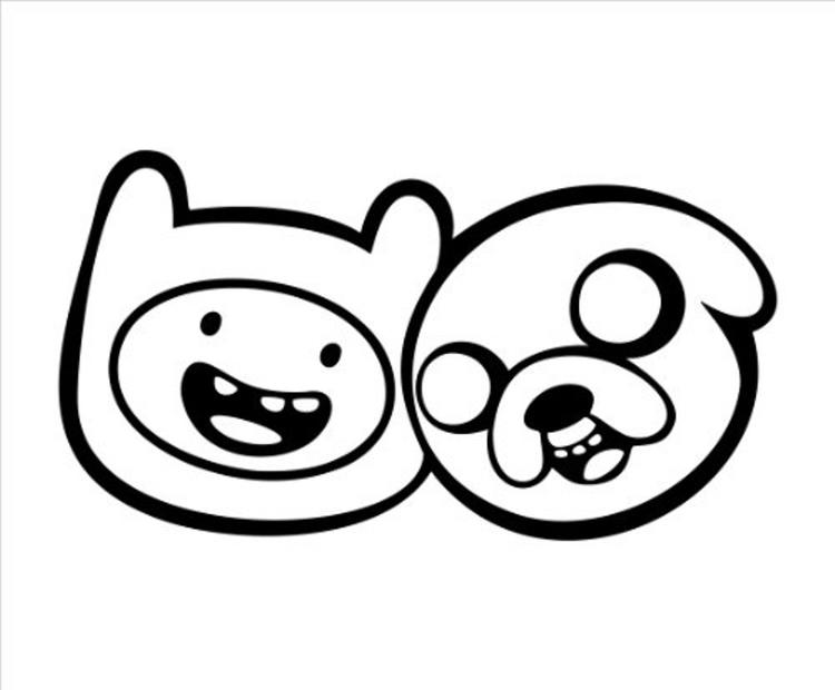 Adventure Time Coloring Pages Finns And Jakes Face