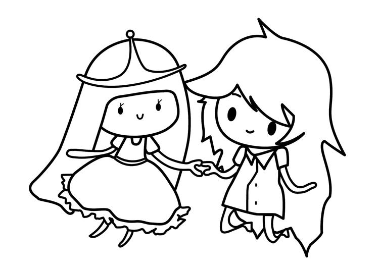Adventure Time Coloring Pages For Girls