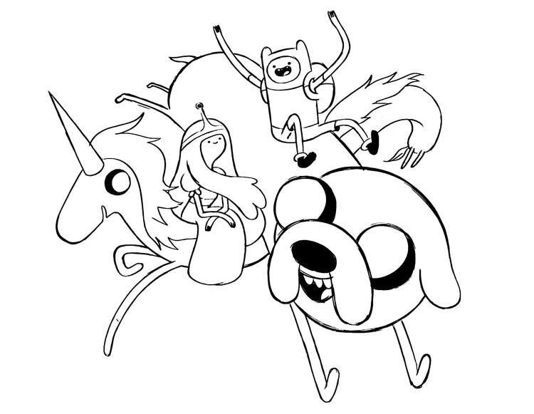 Adventure Time Coloring Pages For Kids