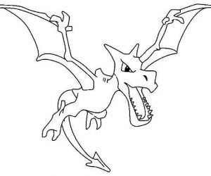 Aerodactyl legendary pokemon coloring page