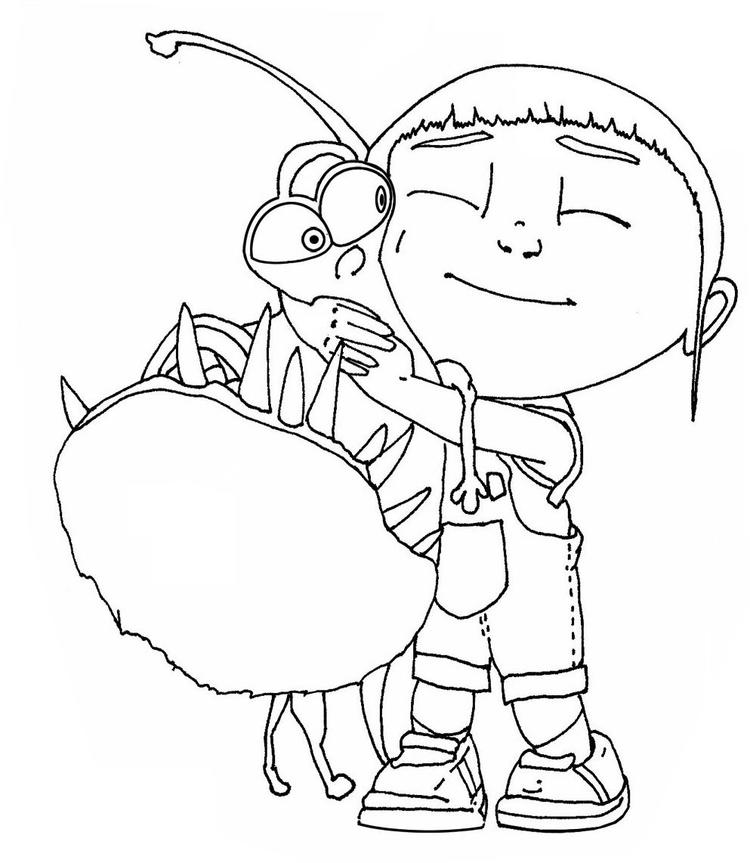 Agnes And Her Pet Despicable Me Coloring Pages