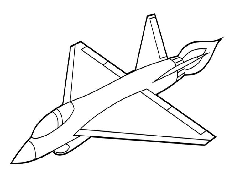 Airplane Coloring Pages Army Plane