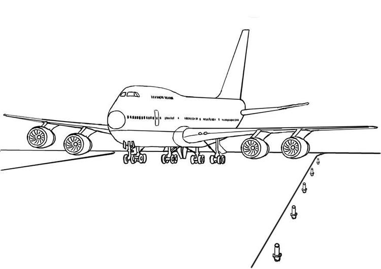 Airplane Coloring Pages Boeing Take Off