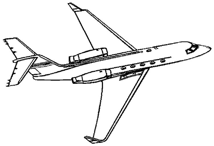 Airplane Coloring Pages Jet Plane Flying