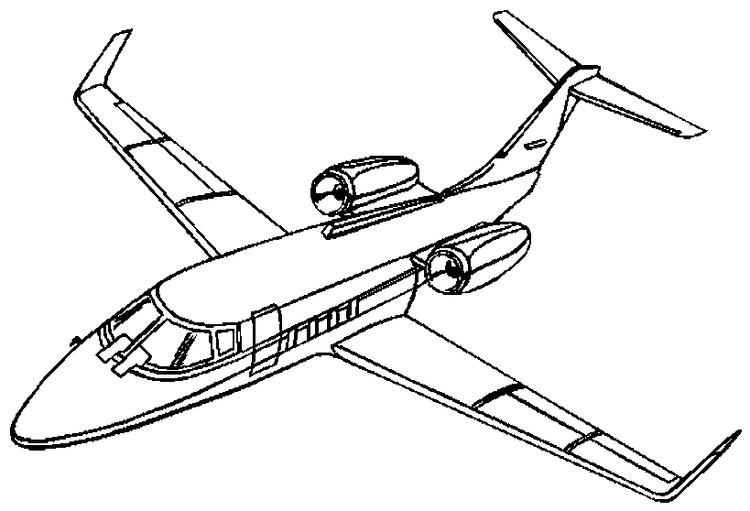 Airplane Coloring Pages Jet Plane