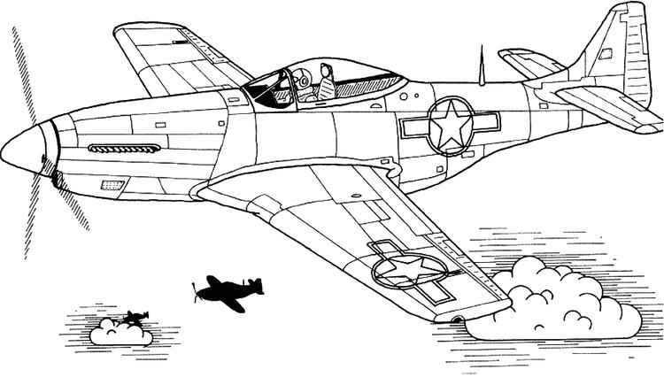 Airplane Coloring Pages Military Palne Flying
