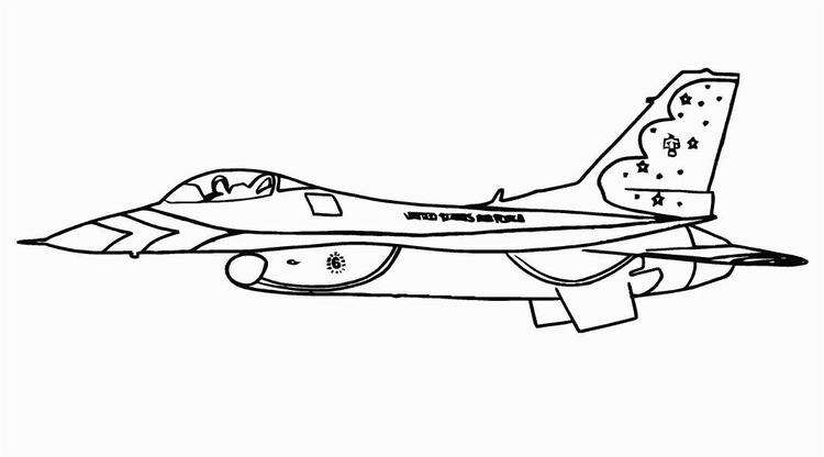 Airplane Colouring Pages