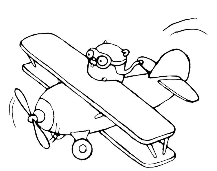 Airplane Pilot Anime Coloring Page