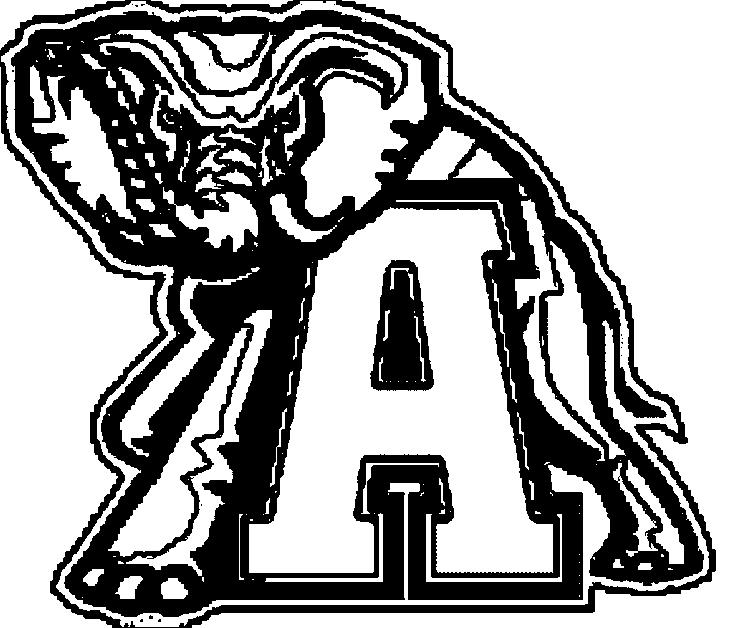 Alabama Football Coloring Pages Logo