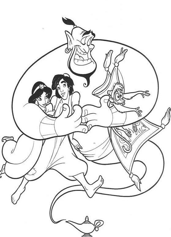 Aladdin Coloring Pages Cover 1