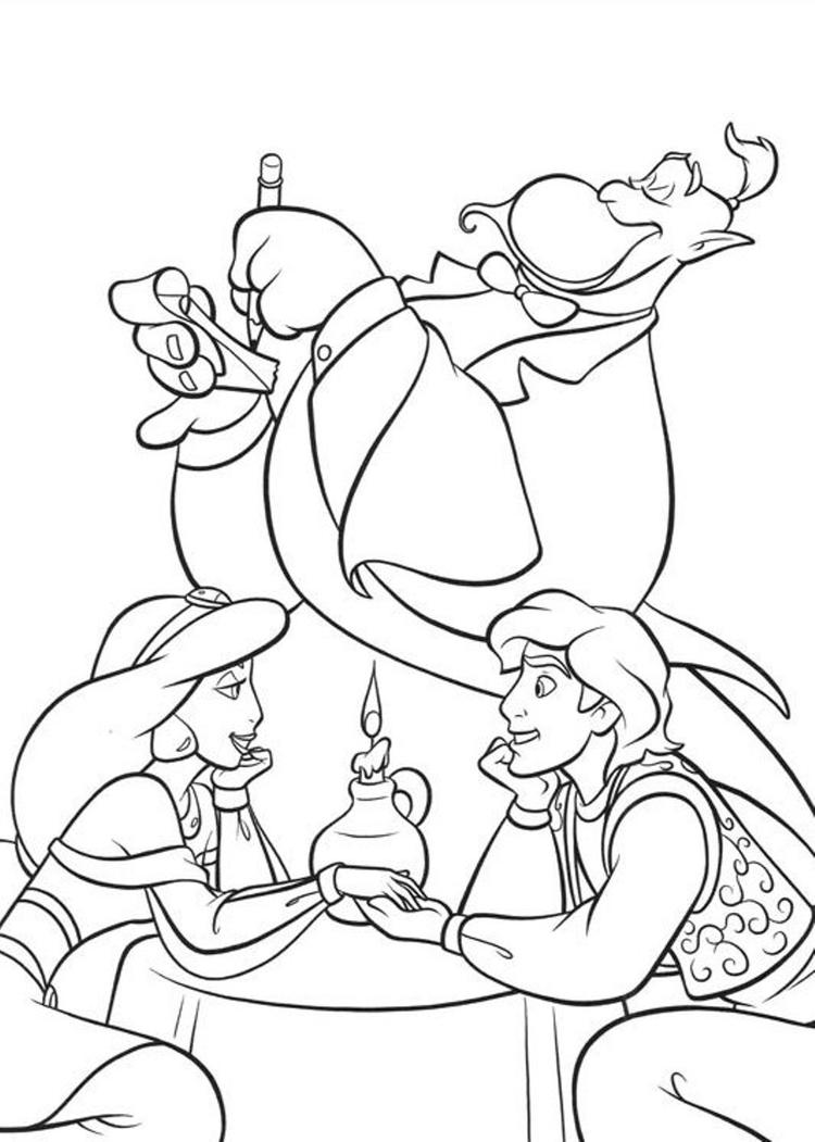 Aladdin Coloring Pages In Dating