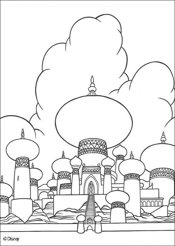 Aladdin Coloring Pages Sultan Palace