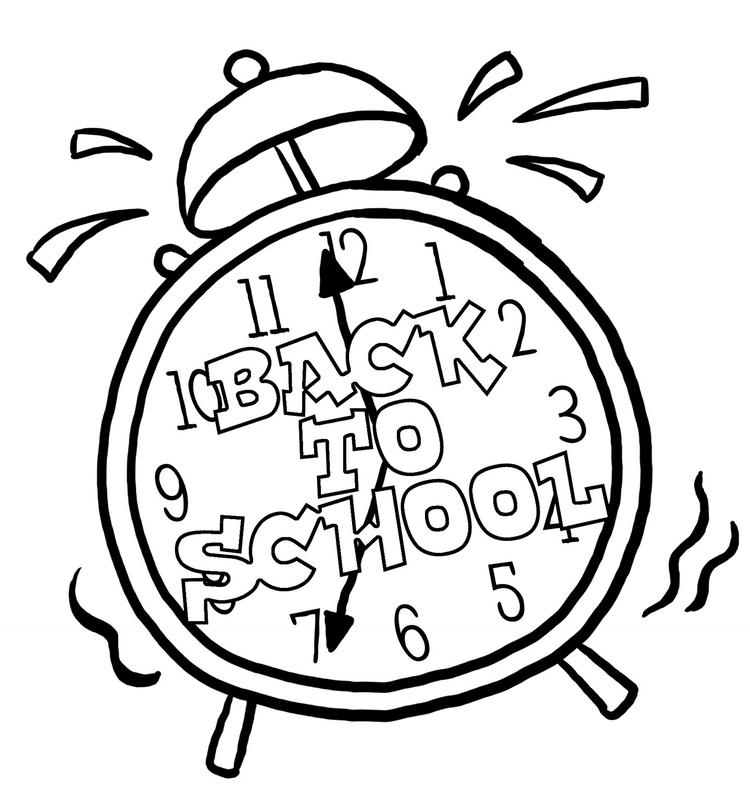 Alarm Back To School Coloring Pages