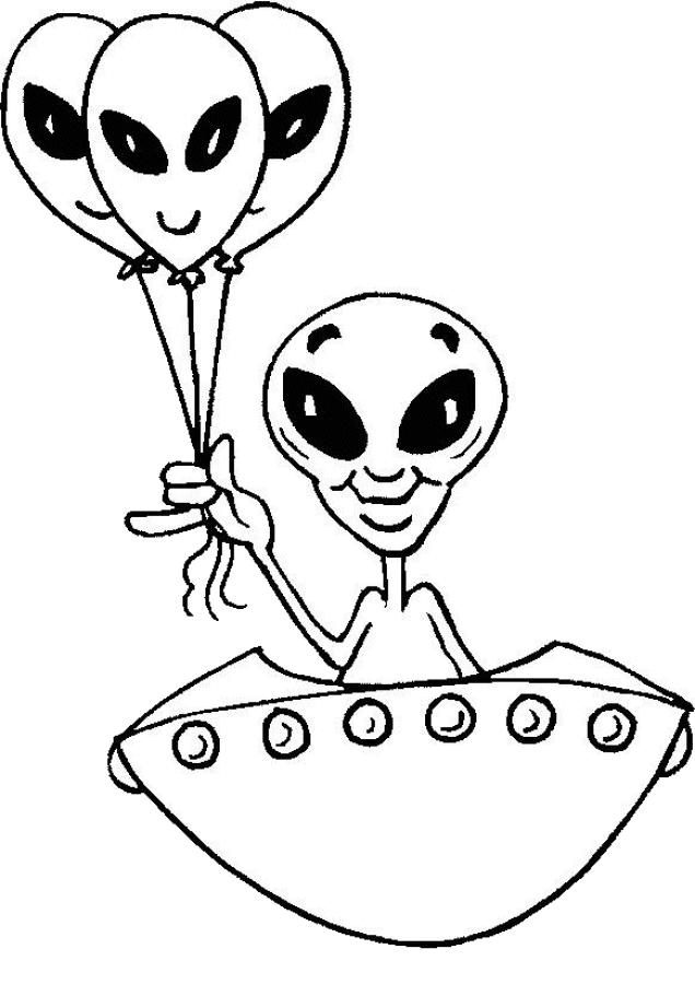 Alien Coloring Pages With Big Eyes