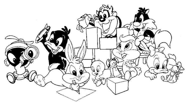 All Baby Looney Tunes Coloring Pages Free