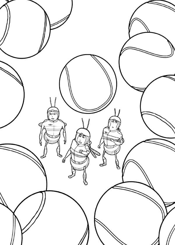 All Be Among Tennis Ball In Bee Movie Coloring Pages