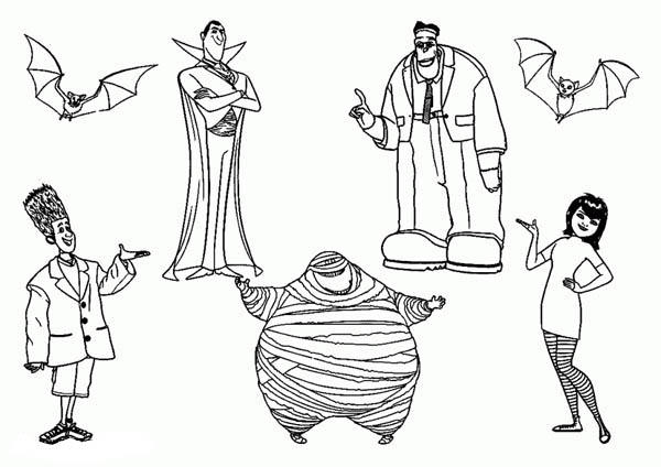 All Famous Characters From In Hotel Transylvania Coloring Pages