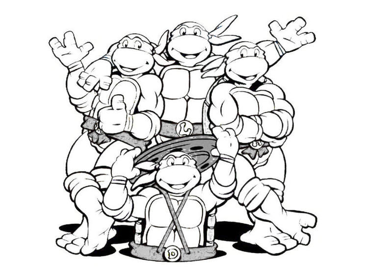 All Ninja Turtle Coloring Pages