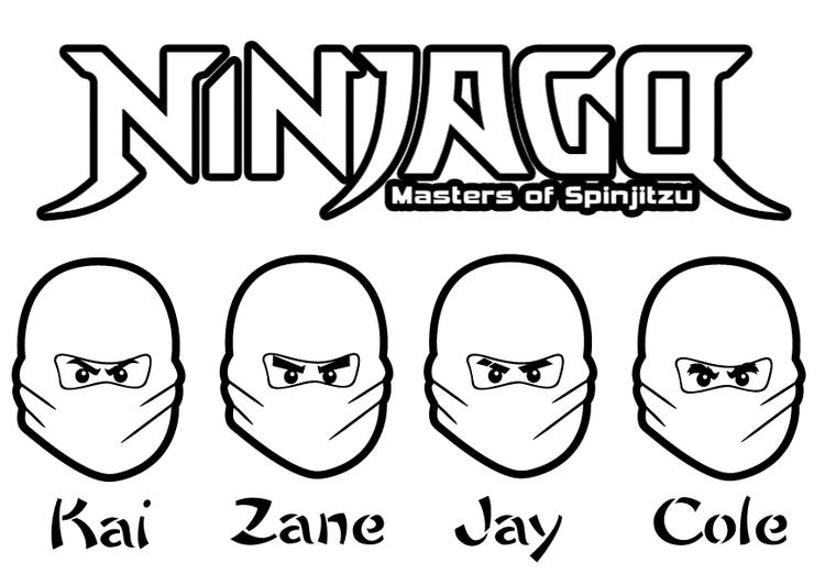 All Ninjas Ninjago Coloring Pages