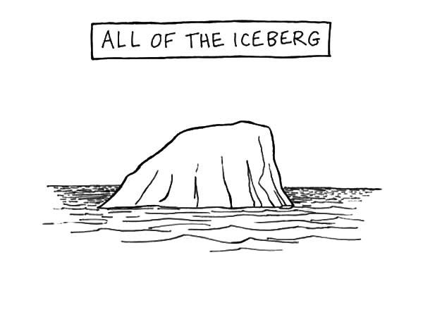 All Of The Iceberg Coloring Pages