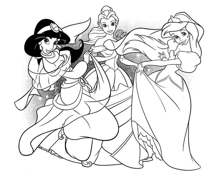 All Princess Coloring Pages Printable 1