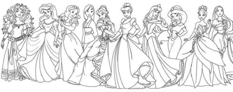 All Princess Coloring Pages