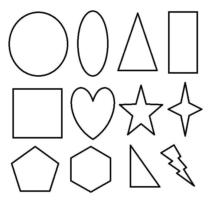 All Shape Coloring Pages Printable Coloring Ideas