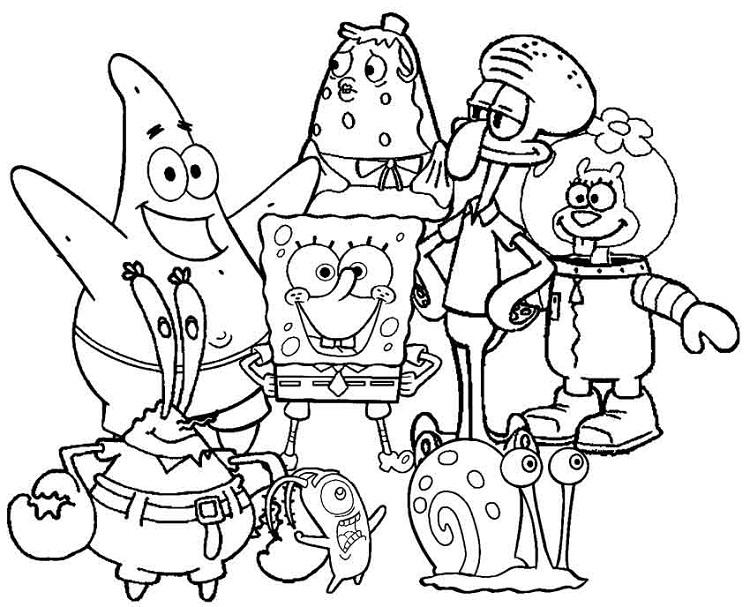 All Spongebob Coloring Pages