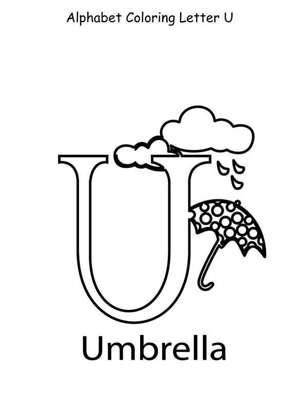 Alphabet Coloring Page For Letter U