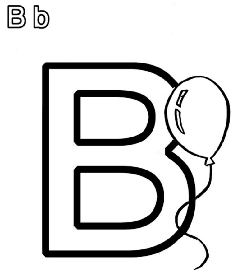 Alphabet Coloring Pages B For Balloon