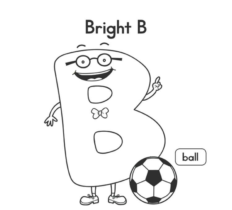 Alphabet Coloring Pages B Is For Ball