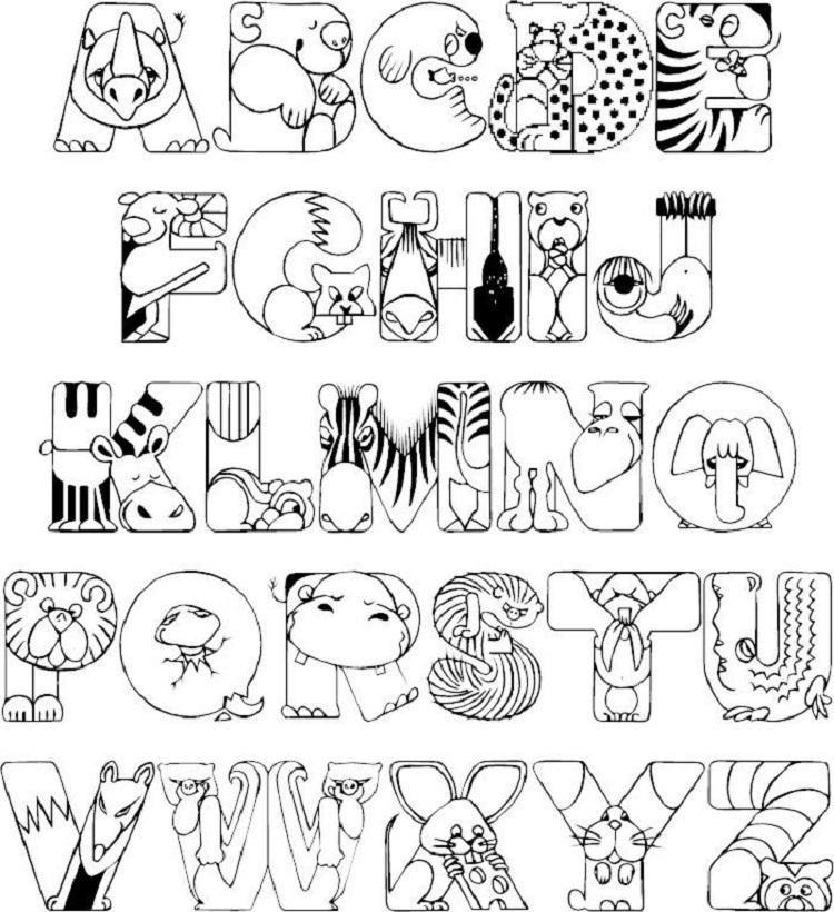Alphabet Coloring Pages Baby Shower