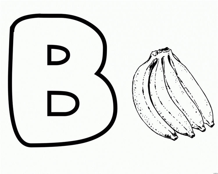 Alphabet Coloring Pages Banana