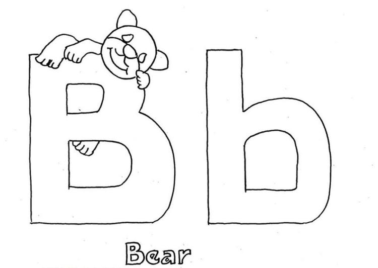 Alphabet Coloring Pages Bear