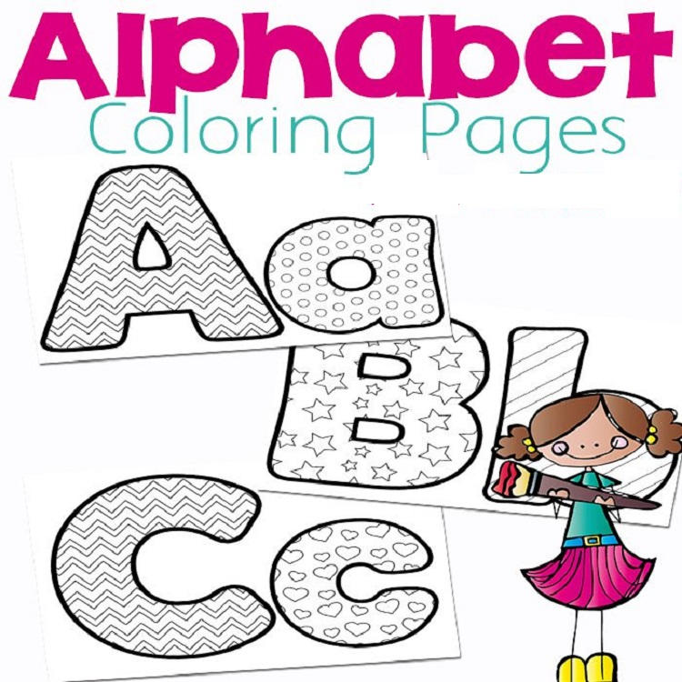 Alphabet Coloring Pages Book