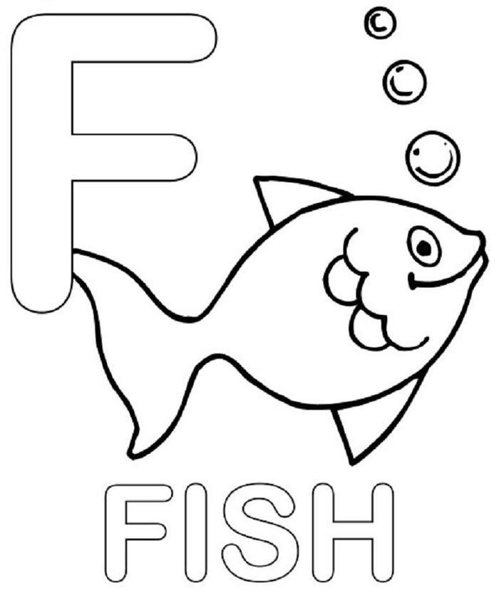 Alphabet Coloring Pages F