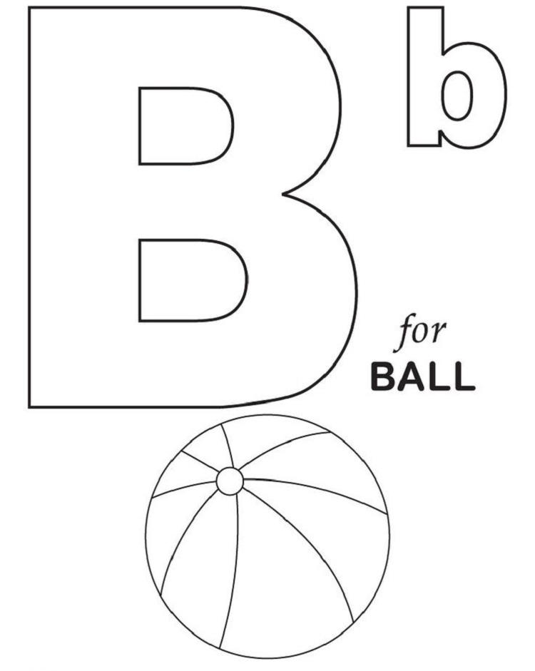 Alphabet Coloring Pages For 3 Year Olds