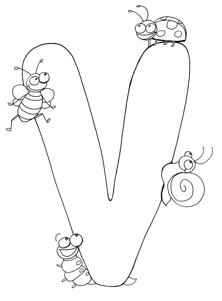 Alphabet Coloring Pages For Children