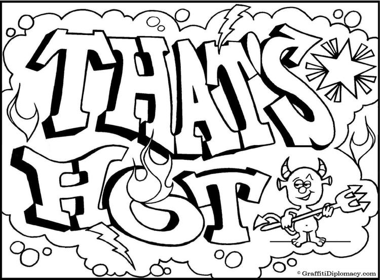Alphabet Coloring Pages For Teenagers Graffiti