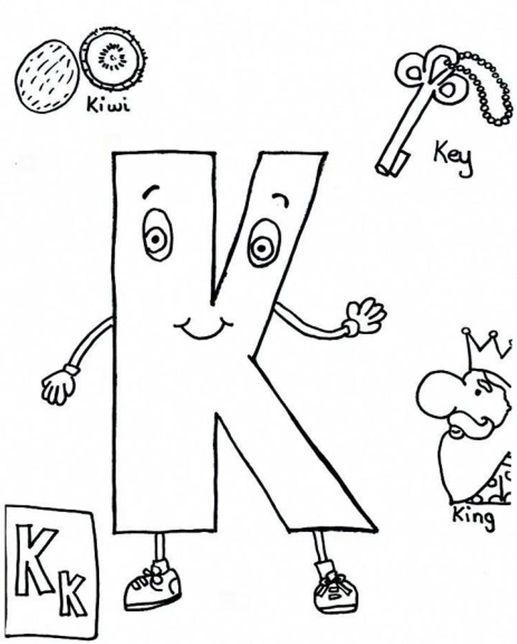 Alphabet Coloring Pages Free Abc Words