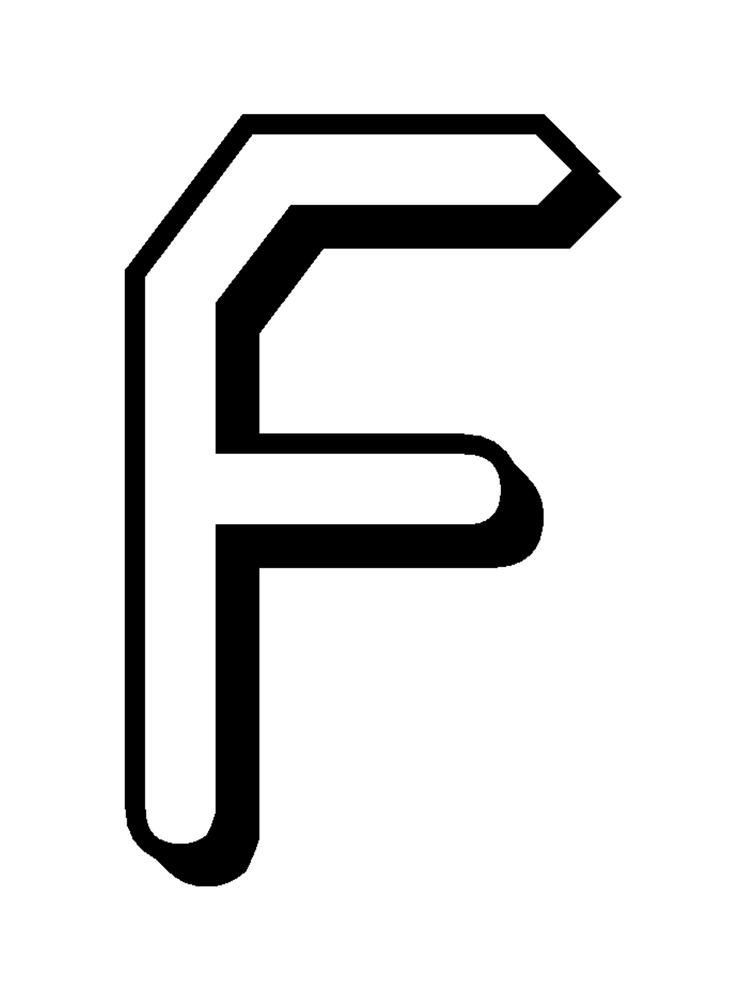 Alphabet Coloring Pages Free Letter F For Kids