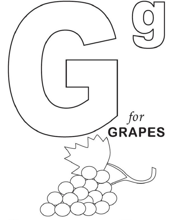 Alphabet Coloring Pages G