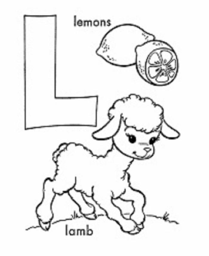 Alphabet Coloring Pages L