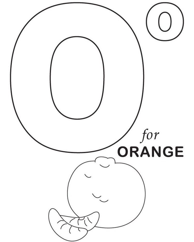 Alphabet Coloring Pages O For Orange